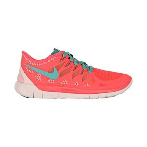 Nike Free 5.0 running shoes coral pink size 10